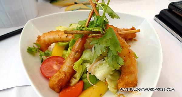 Shrimp Satay for starter