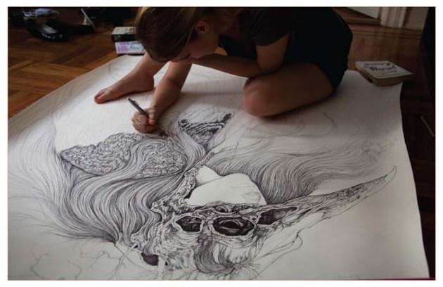 Zomerplannen: tekenen (Art & artist: Caitlin Hacket)
