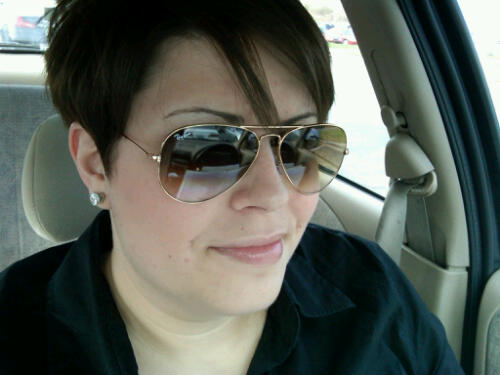 After getting my follicles all chopped off!