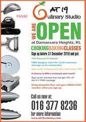 At19 Culinary FREE baking/cooking class WEEKLY giveaway