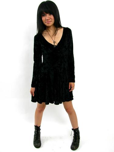 VINTAGE 90's CRUSHED VELVET DRESS