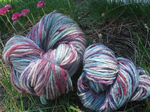 Handspun 4-Ply Domestic Wool Breaking Black