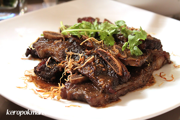 Beef ribs, slow-braised in young coconut water