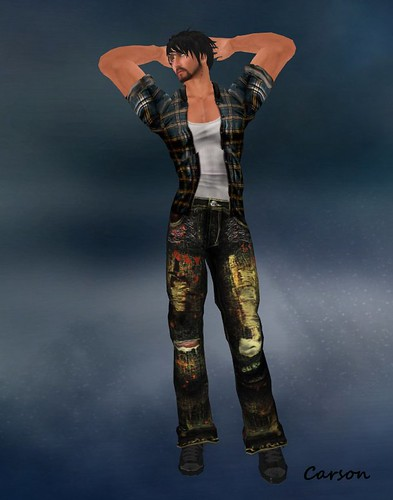 WoE Warehouse Jeans  (Rare Gacha)Lundon Plaid Shirt Hunt