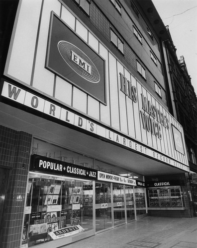 hmv 363 Oxford Street, London - Exterior of store 1960s