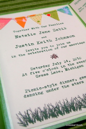 Our self designed wedding invitation