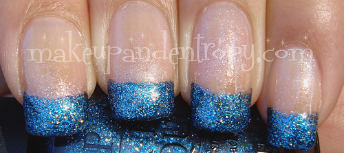 Glitter french manicure-Absolutely Alice closeup