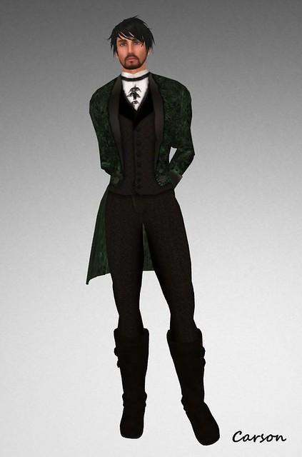 BlakOpal Steampunk Formal Suit - Green