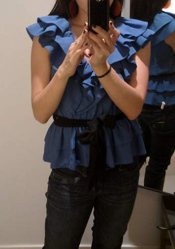 H&M Ruffle Shirt