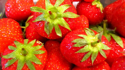 Fresh strawberries in June