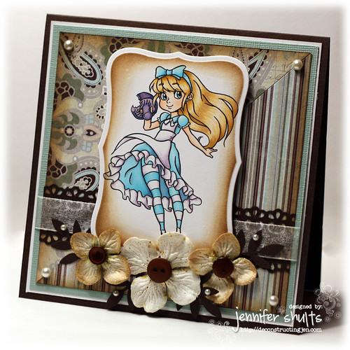 Alice - handmade card