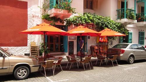 Outside La Cevicheria in Cartagena's upscale San Diego neighborhood.
