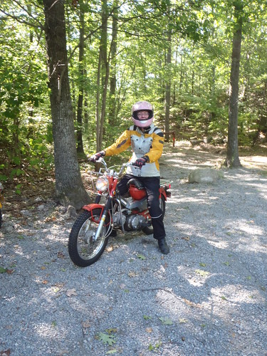 Me and my Honda CT90 getting ready for some rocks