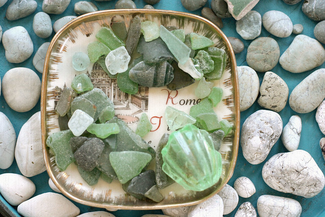 Green sea glass in Rome #2