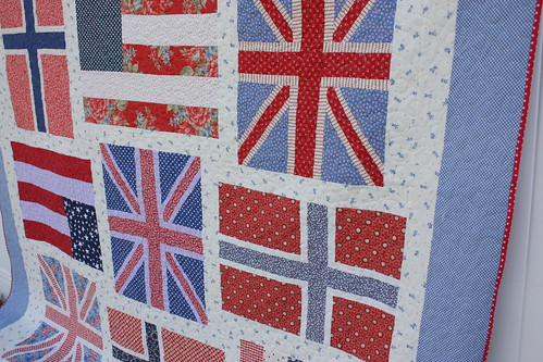 Flag quilt close up