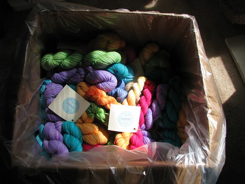 Box of Rainbow Skeins