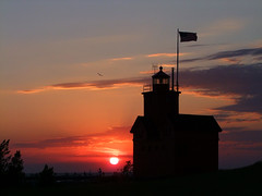 Holland Light House Sunset