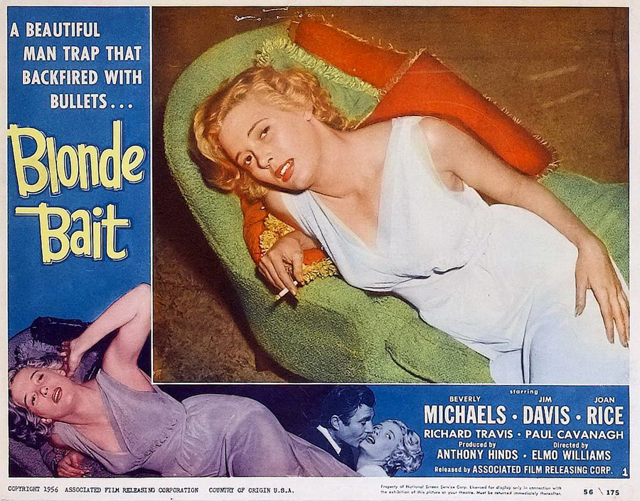 Blonde Bait  - Lobby Card 1 (1956)