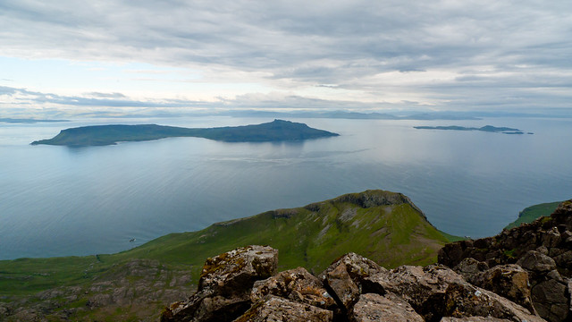 Eigg and Muck, from Askival