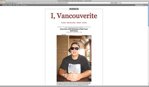 i, vancouverite x welcome to eastvan