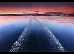 Ice Track - Þingvellir, Iceland by orvaratli