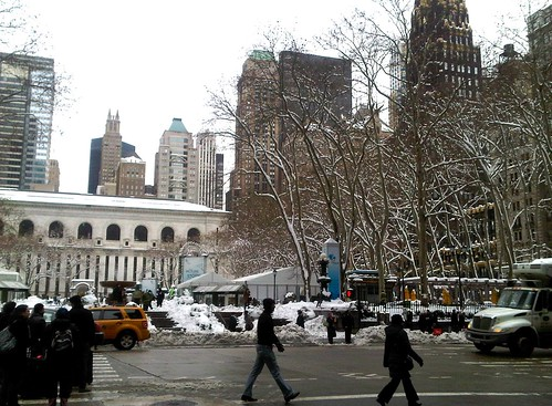 Bryant Park day after the storm of 1/27/2011