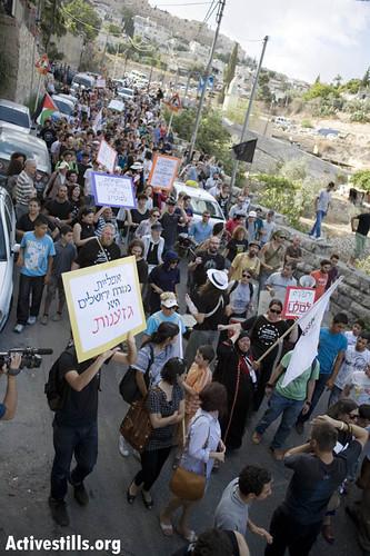 Solidarity march against house demolitions, Silwan, East jerusalem, 25/06/2010