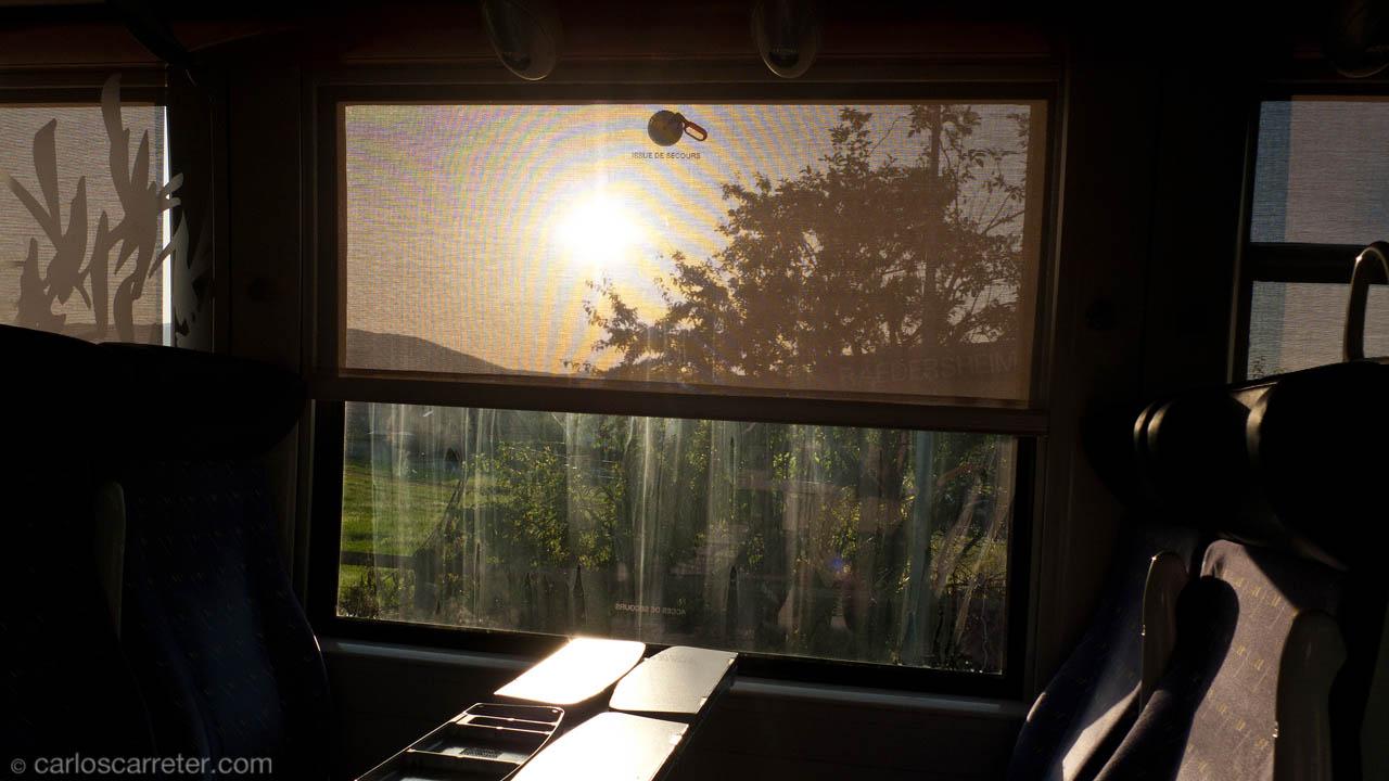 TER con destino Colmar, a la caída de la tarde