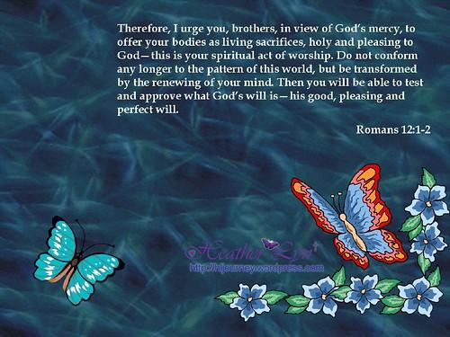 Romans 12: 1 & 2