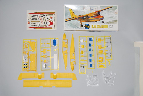 "Airfix 1/72 ""Britten-Norman"" BN-2A Islander, Aurigny Airlines. Painting in progress."