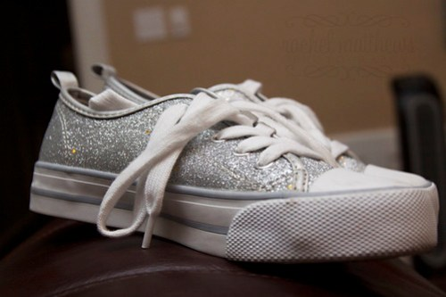 back to school glitter shoes