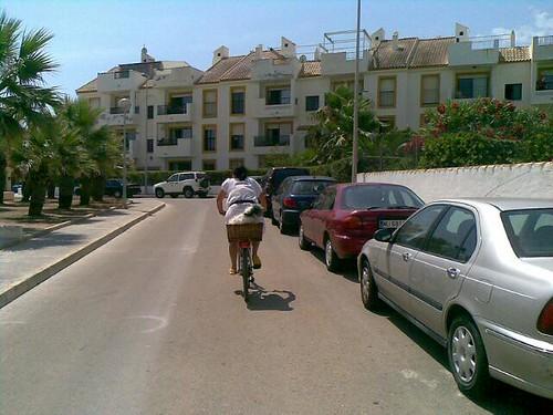 Estrellita en la bici