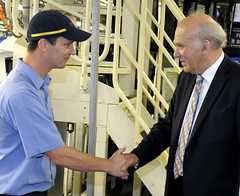 Toyota Manufacturing staff meet Vince Cable MP