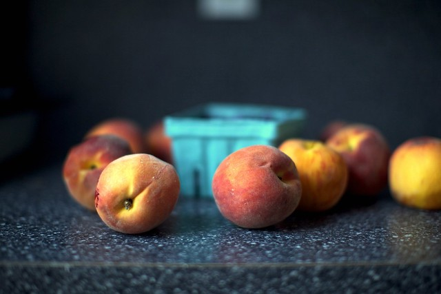 these peaches had better days