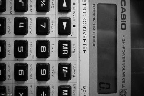 Casio electronic calculator circa 1983 P1050389