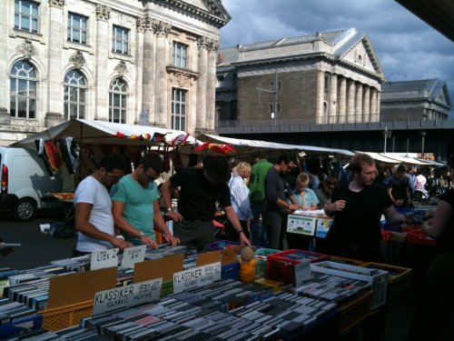 Berlin fleamarket - DVDs etc.