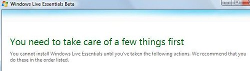 Windows Live Essentials Installer: Take care of...