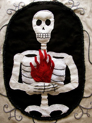 Stumpwork Skeleton-Fire Banner