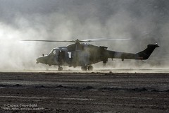 Army Lynx Mk9A Helicopter Over Afghanistan