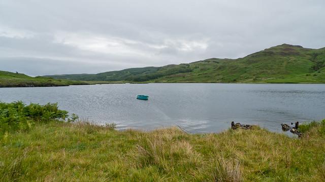 Boat on a Lochan near Tobermory