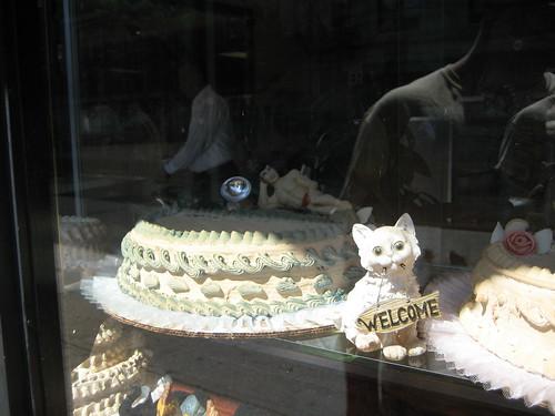 random bakery with random naked guy on cake