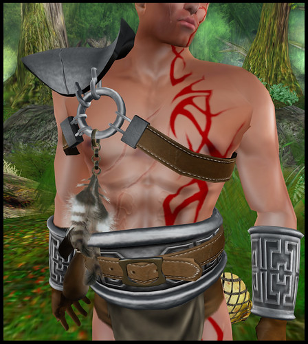 male barbarian - chest detail