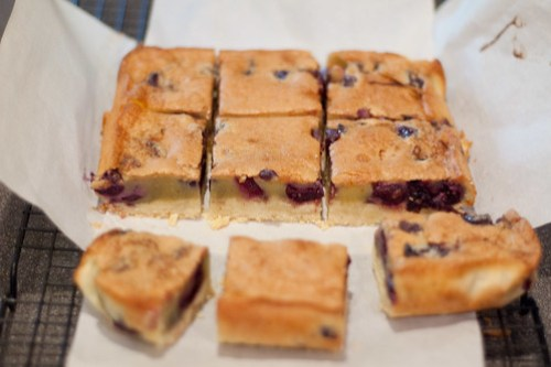 Brown butter cherry bars