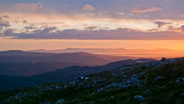 Sunset hues from Beinn Damh