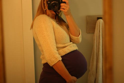 This is not a maternity sweater.