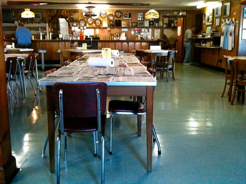 Vintage Chairs and Linoleum
