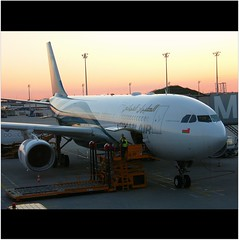 Connecting to our flight with OMAN AIR to Musc...