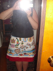 Skirt made with vintage Hawaii towel