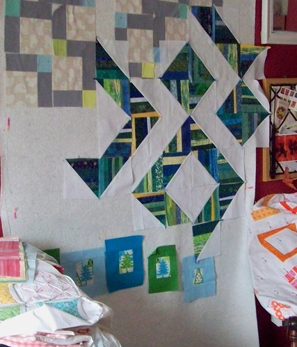 pioneer valley girl design wall with modern patchwork projects