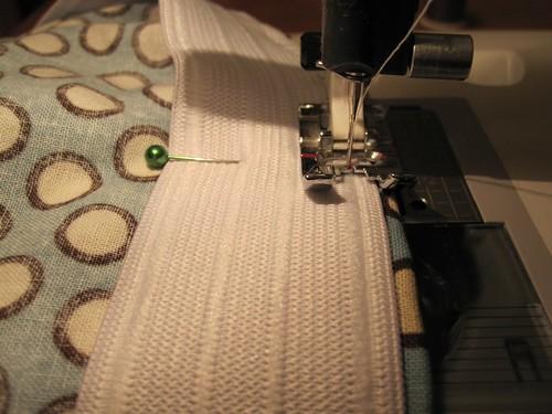 Stitching the sport elastic